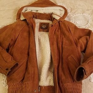 Suede fully lined leather jacket